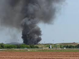 Incendio alla discarica FAECO luglio 2013