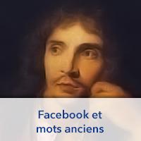 Facebook et mots anciens