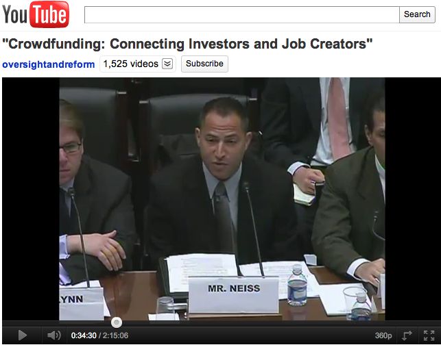 U.S. Congressional Hearing - September, 2011