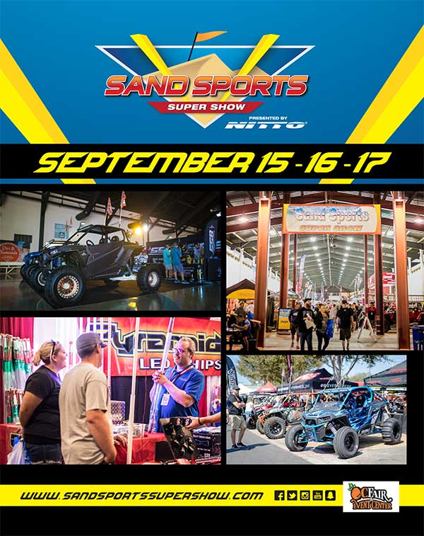 The Sand Sports Super Show will be September 15-17, 2017 in Costa Mesa, CA