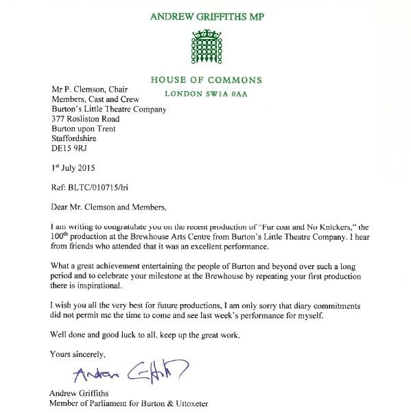 MP letter to LTC