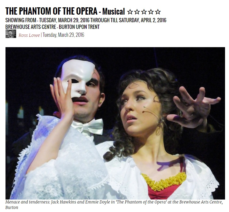 Phantom review by Downstage Centre