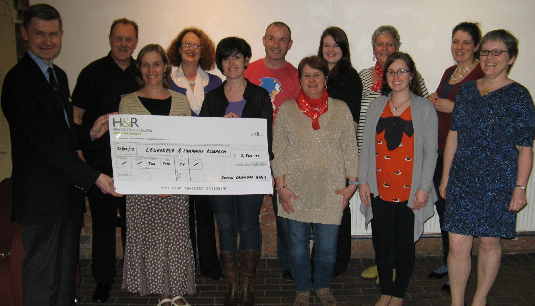 Burton Calendar Girls cheque presentation