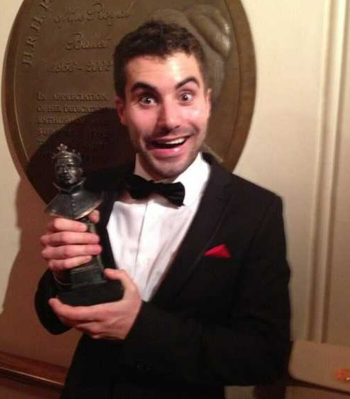 Tom Powis with Olivier Award