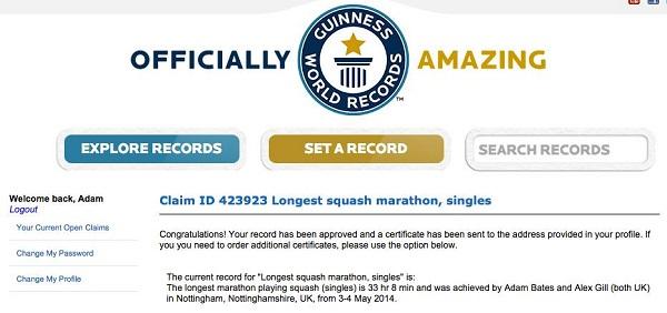 Squash World Record