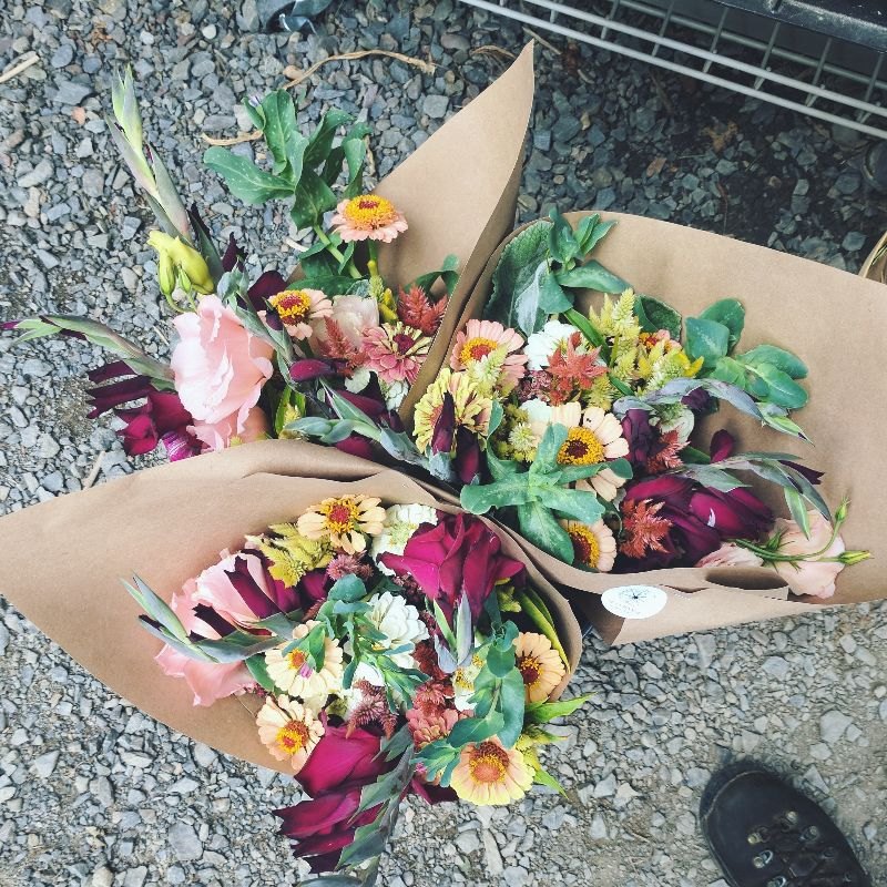 bouquets of fresh fall flowers