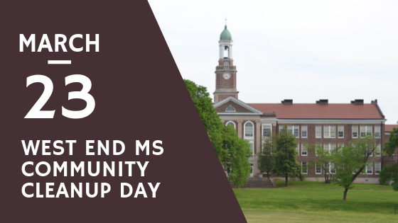 West End MS cleanup day