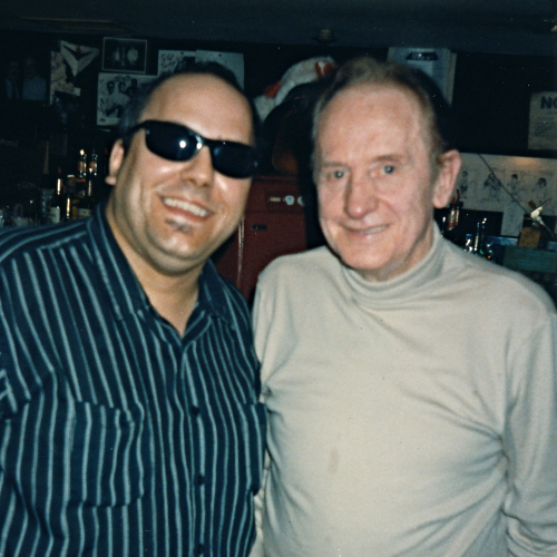 Chris T. & Les Paul, circa 1992.