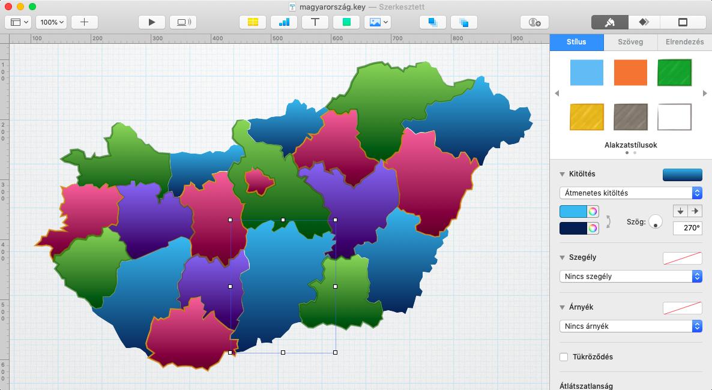 Macademia Magyarország térképe Mac Pages Keynotes Numbers alkalmazásba