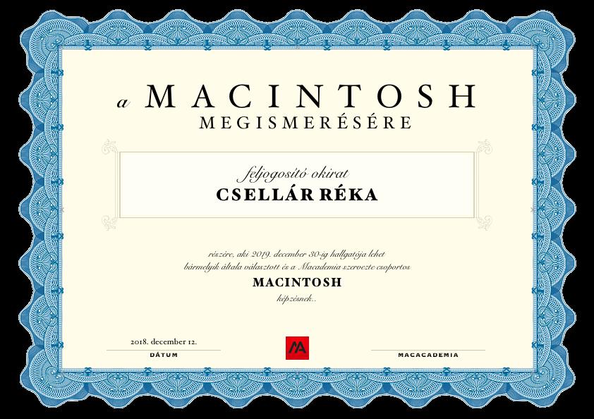 Ajándékozz Macademia oktatást vagy képzést!