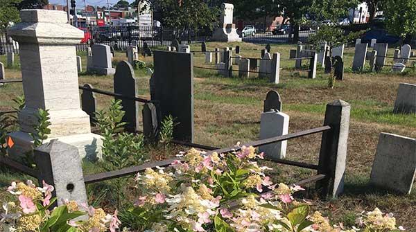 Marble Headstones on Funeral Lane in Eastern Cemetery