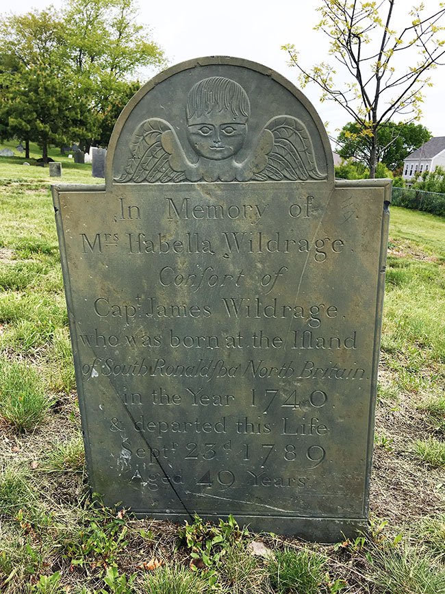 Headstone of Eliza Lewis