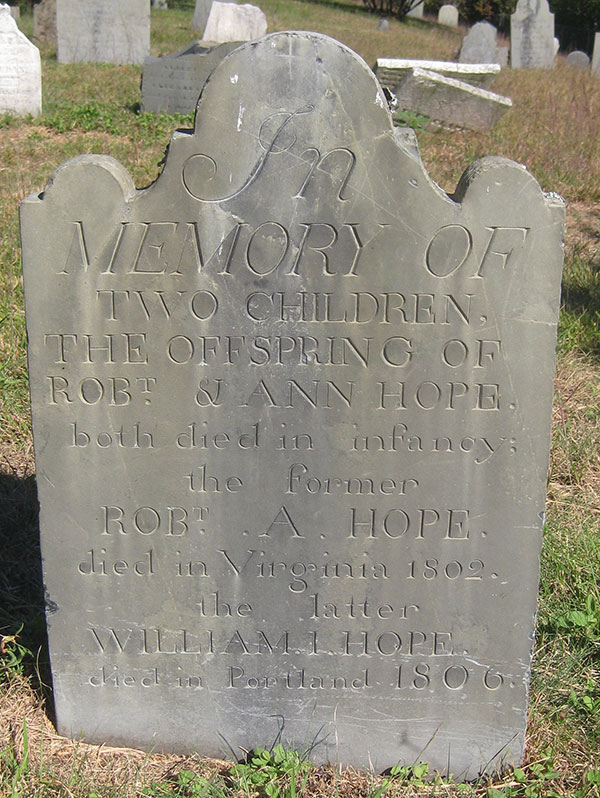 Hope children headstone