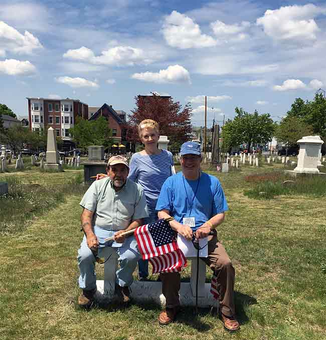 Memorial Day flagging group