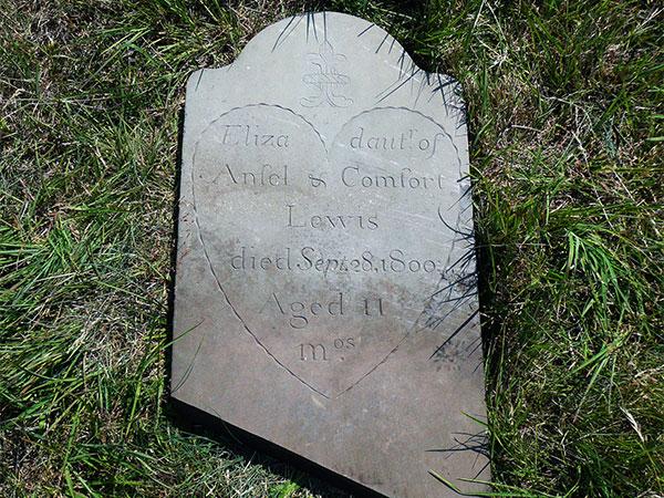 Headstone of Eliza Lewis