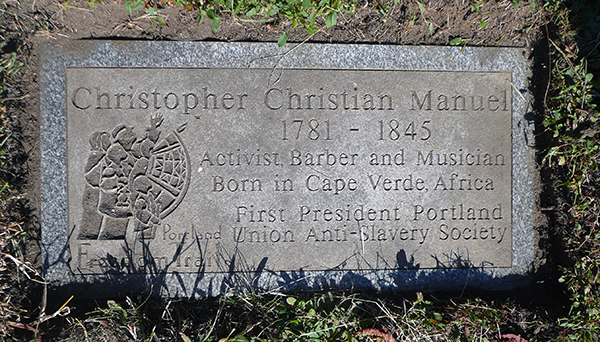Memorial stone for Christopher Christian Manuel