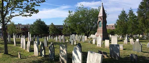 spring cemetery landscape