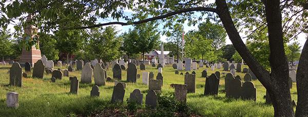 girl placing flag at gravestone
