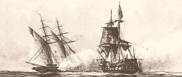 Enterprise and Tripoli battle on the sea