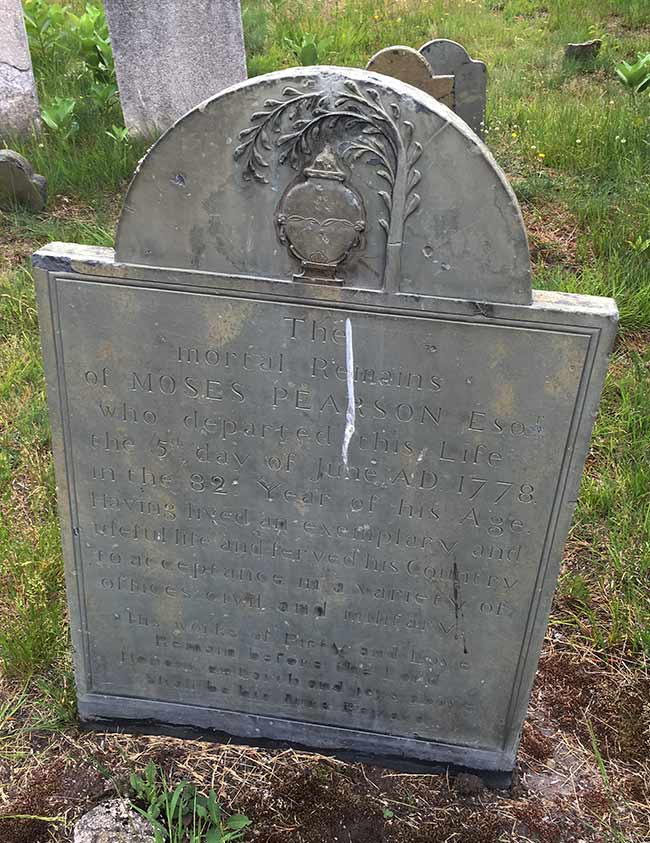 Headstone of Moses Pearson