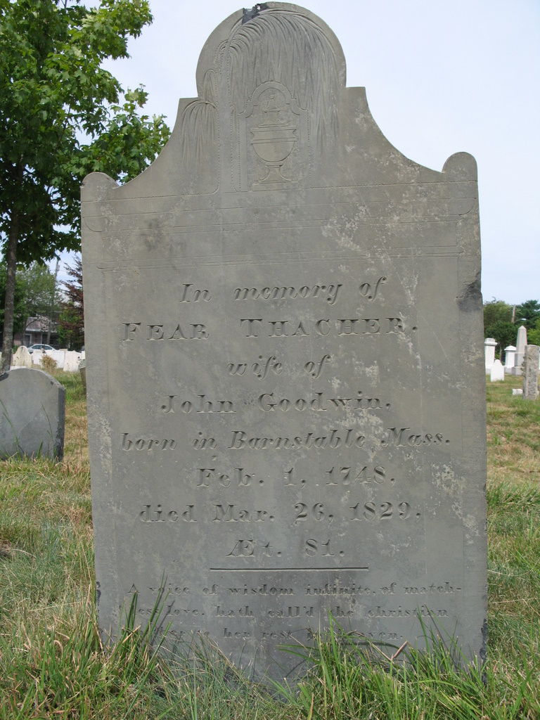 headstone for Fear Thacher Goodwin