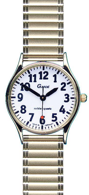 slechtziende horloge met rekband double