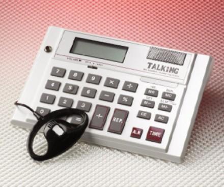 engels sprekende rekenmachine nu voor €39.50.-