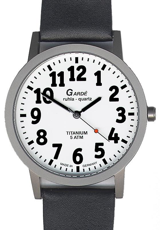 heren slechtziend horloge witte wijzerplaat