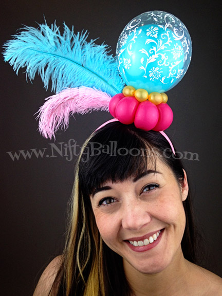 Nifty Balloons making a statement with Feathers
