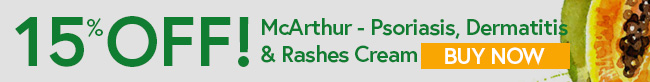 15% off Psoriasis, Dermatitis and Rashes Cream at McArthur Skincare