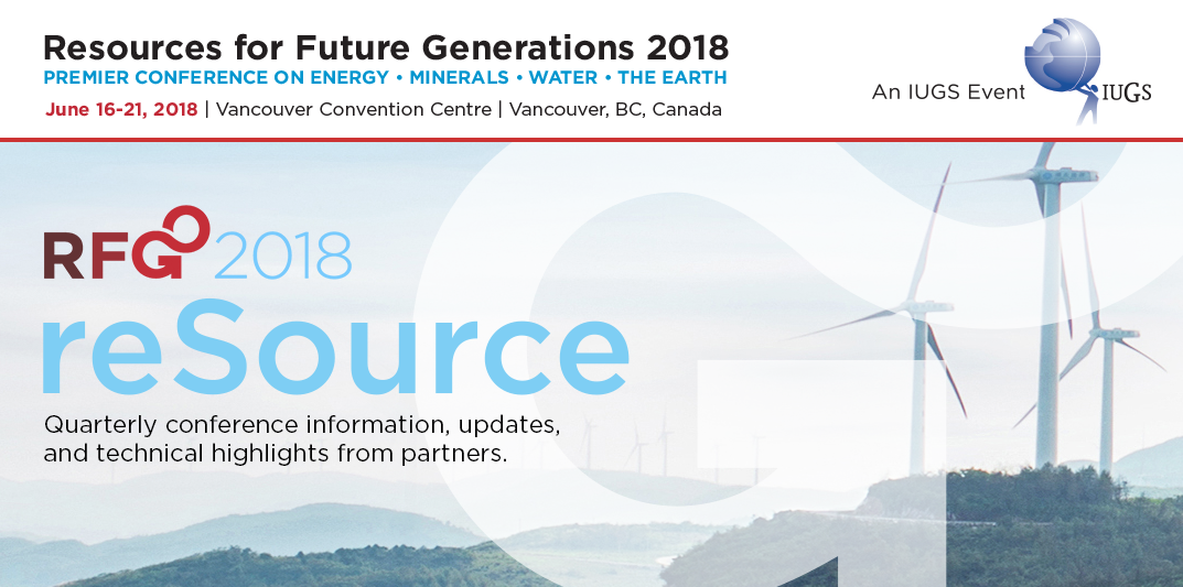 RFG2018 - IUGS, Resources for Future Generations