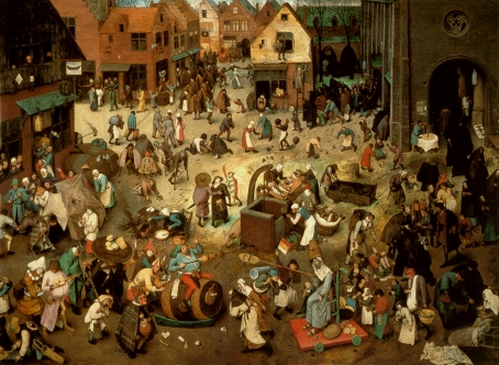 Brughel the fight between carnival and lent