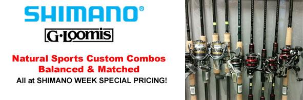 Natural Sports Custom Shimano Combos on SALE!