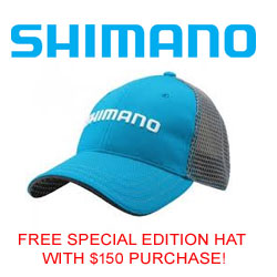FREE Shimano Hat with $150 purchase