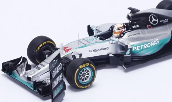 Mercedes W06 F1 USA 2015 World Champion Lewis Hamilton Spark 18S179 1/18