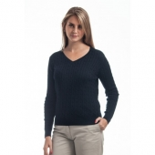 Navy Cable Knit Pima Cotton Sweater (Women's) for Preppy Fall 2013