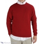 Men's Red Cashmere Cableknit Sweater