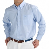 Blue Oxford Button Down Shirt for Preppy Fall 2013