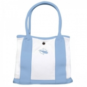 Light Blue Canvas Tote Bag for Preppy Fall 2013