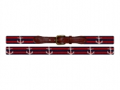 Striped Anchor Needlepoint Belt for Preppy Fall 2013