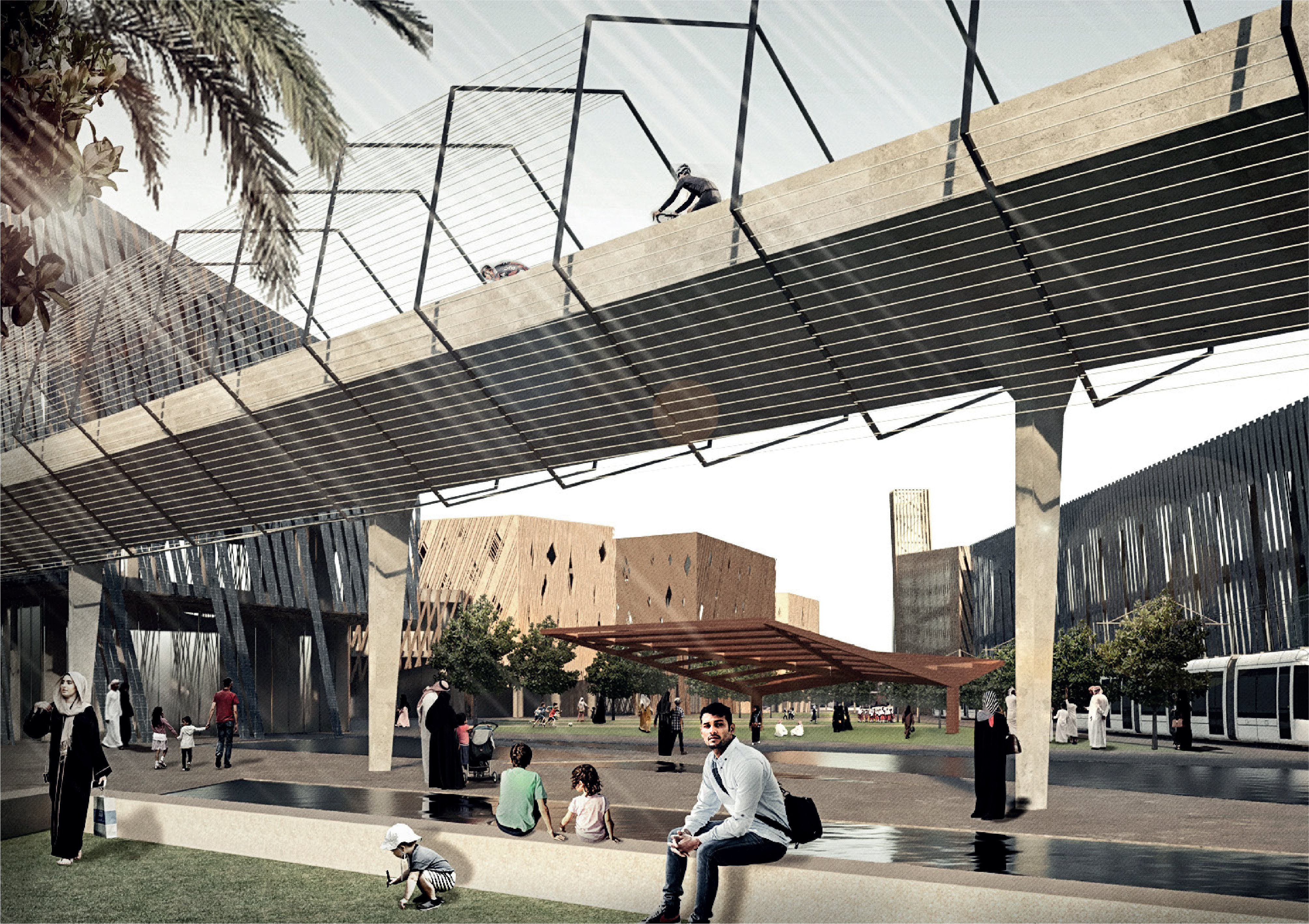 Rendering of the planned Sports Boulevard in Riyadh, Saudi Arabia (Arriyadh Development Authority)
