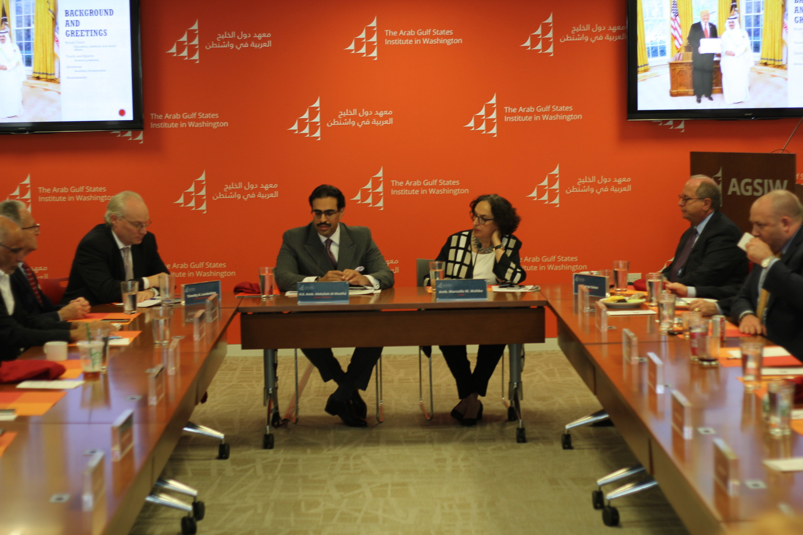 Ambassador of Bahrain to the United States at AGSIW