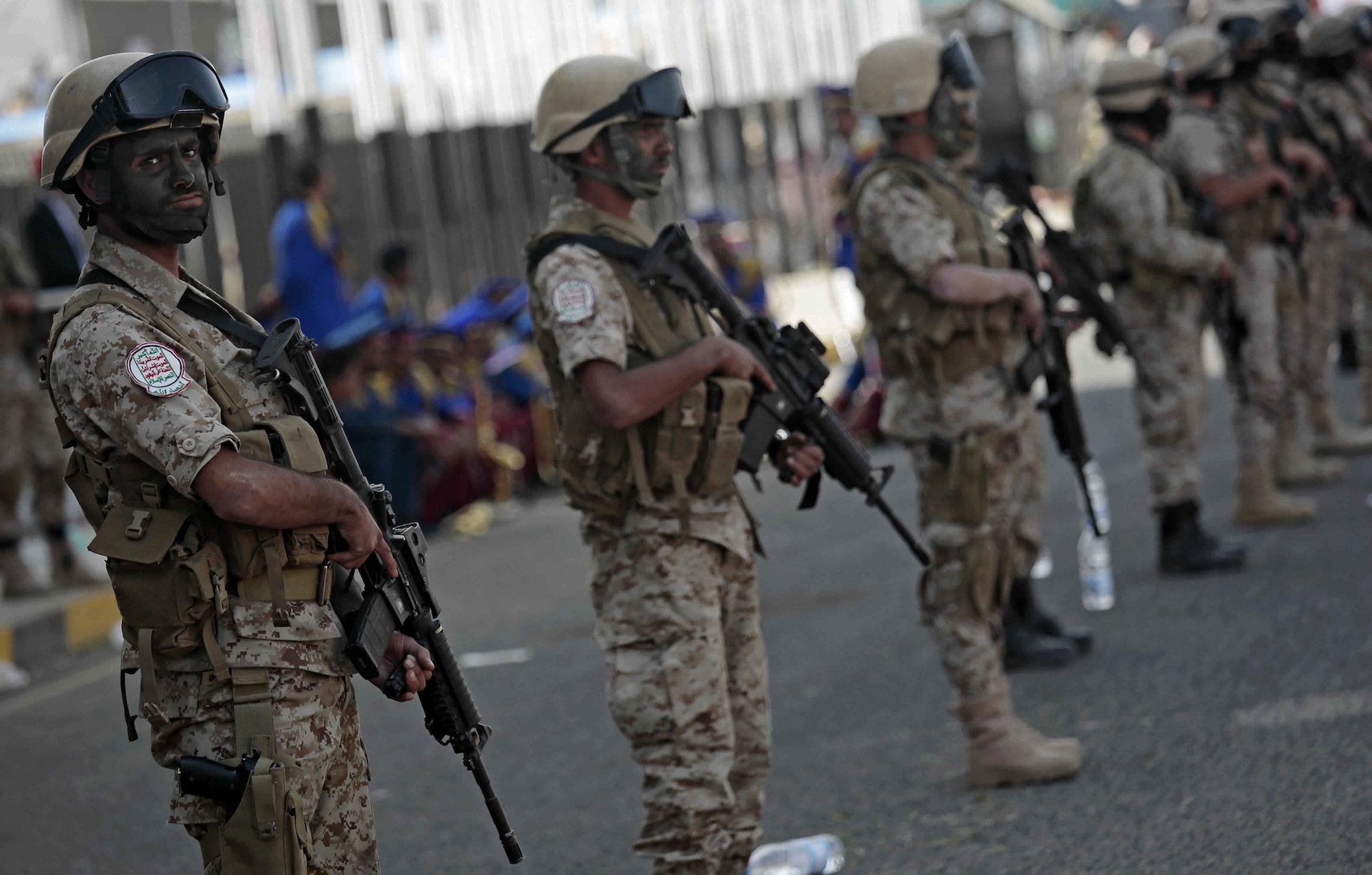 Yemeni Houthi fighters