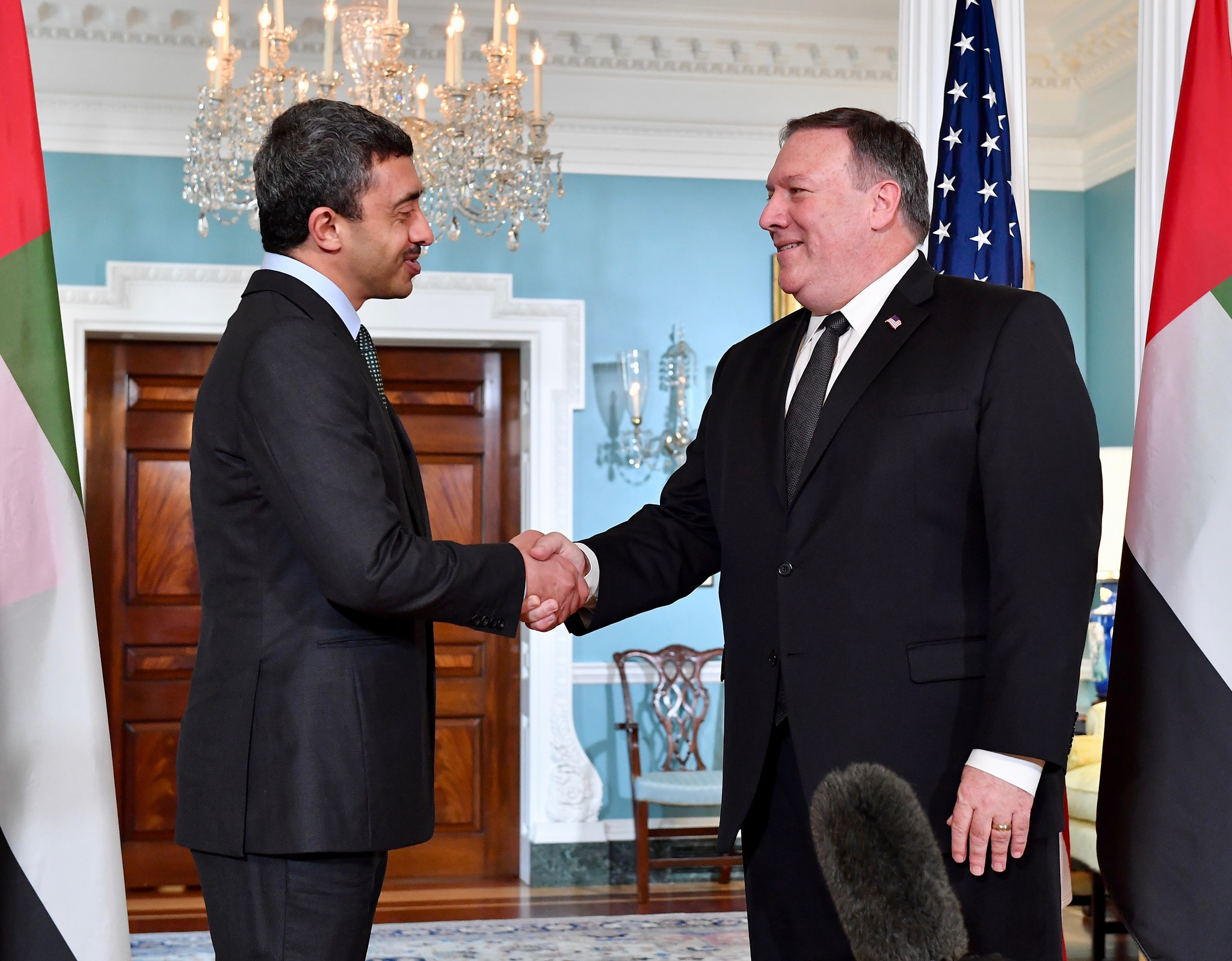 Mike Pompeo and Abdullah bin Zayed