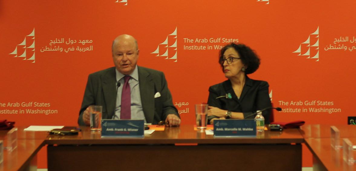Ambassador Frank G. Wisner and Ambassador Marcelle M. Wahba