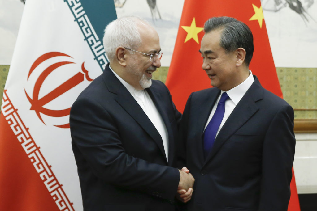 Mohammed Javad Zarif with Chinese Foreign Minister