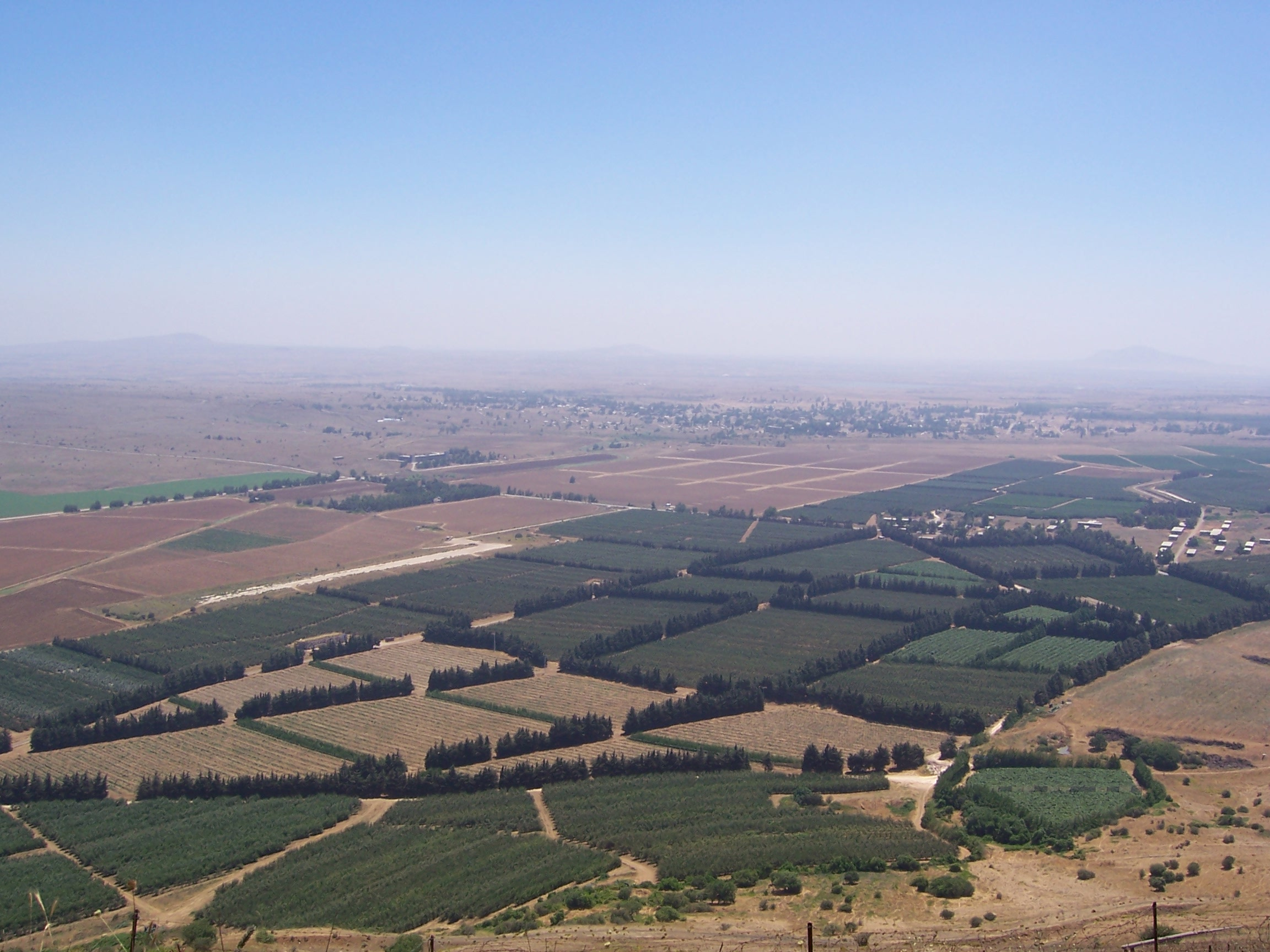 Aerial view of the Golan Heights