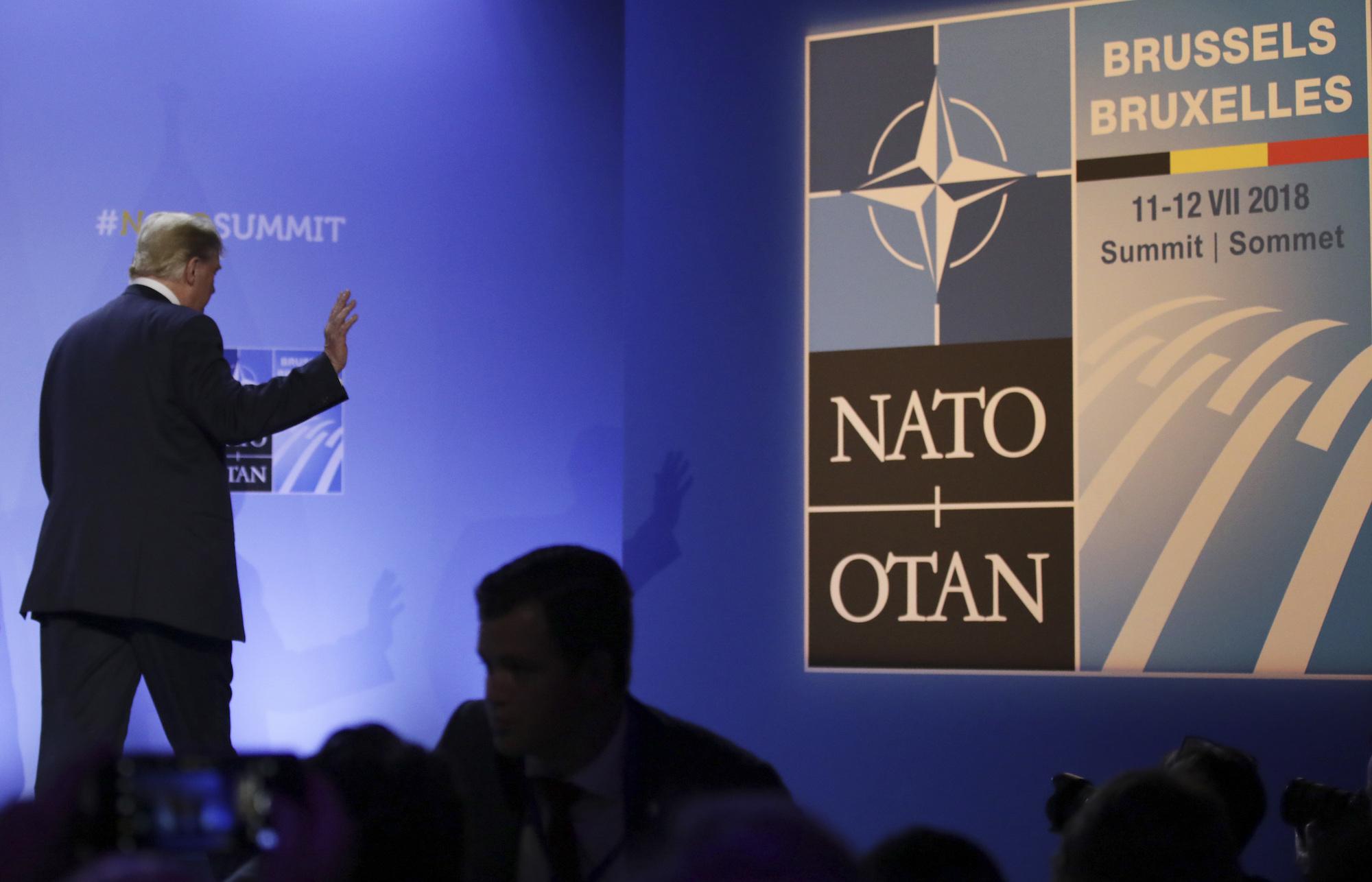 Donald J. Trump at NATO
