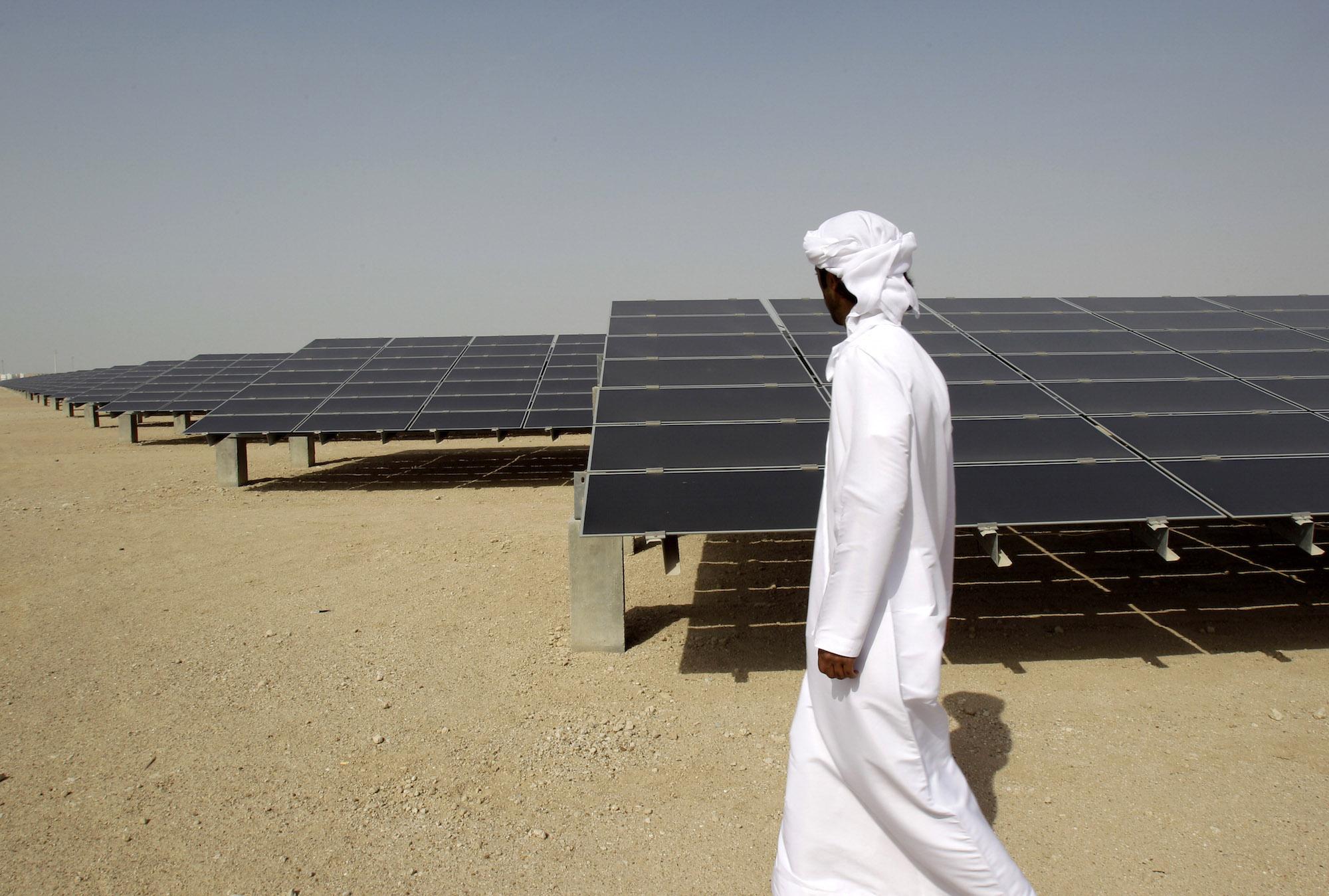 Solar Panels in Masdar City
