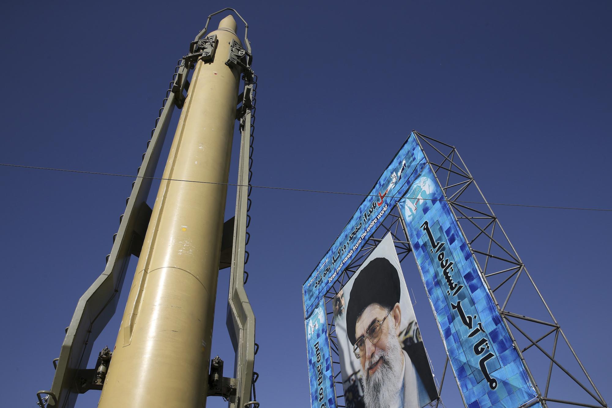 Iran missile display